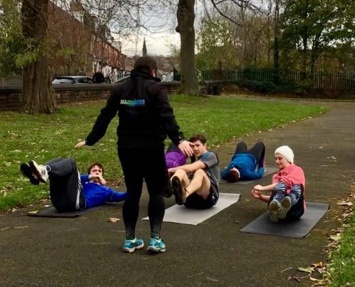 Bootcamps with All Change- clients loving the new exercises to stay fit and healthy!