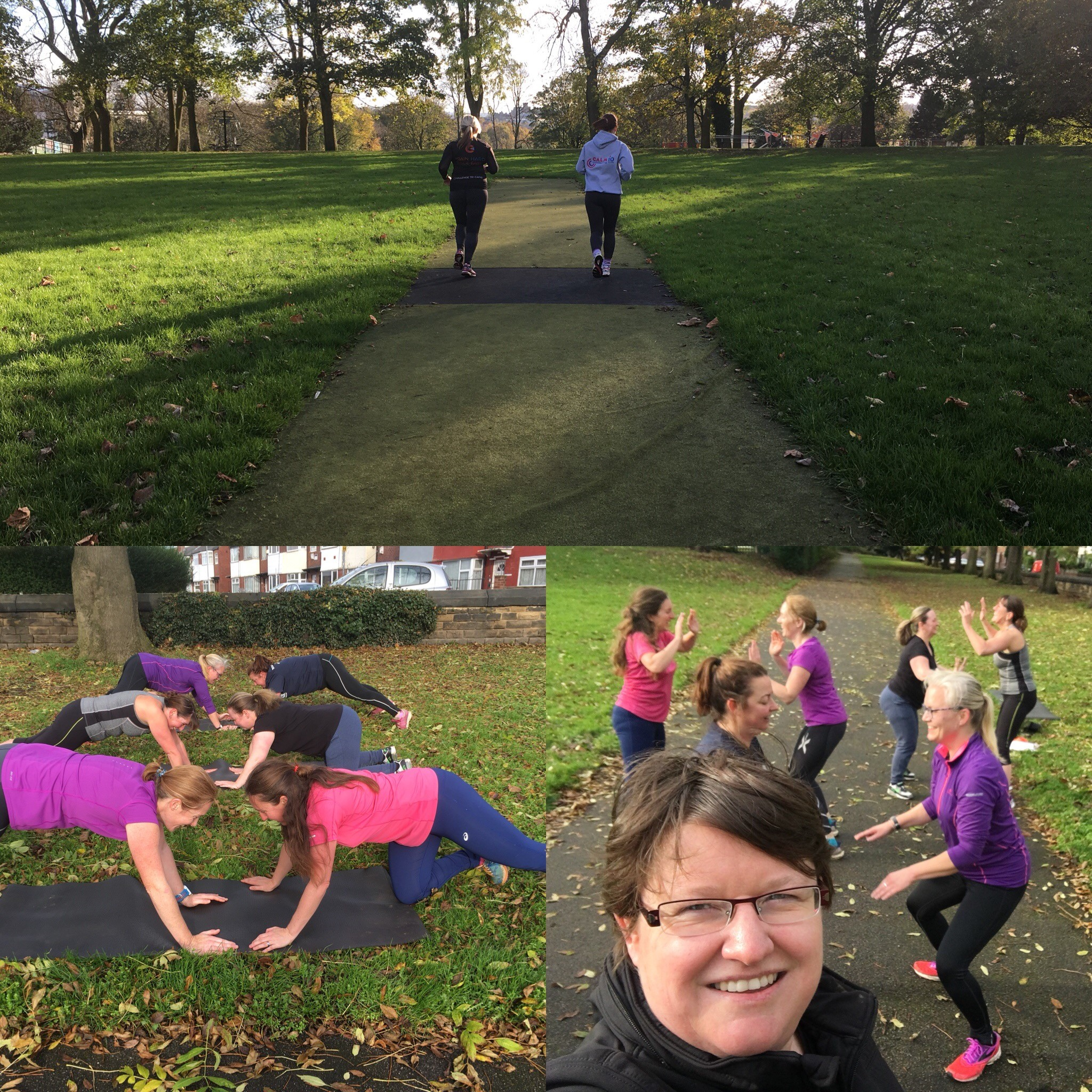 Bootcamps- clients working hard in the fresh air- staying fit and healthy!